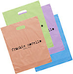 Orchid Frosted Bright Die Cut Bags